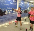 A client doing a kettlebells session at The Altitude Gym in Delta Sports Dome in Limerick
