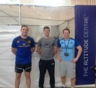 Leinster Rugby captain Jamie Heaslip (left) and head of fitness Daniel Tobin (right) pictured with Altitude Centre Ireland director Colin Griffin as the new altitude chamber was installed at Leinster Rugby