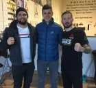 From left to right - MMA fighter John Philips, The Altitude Centre Ireland director Colin Griffin and SBG head coach John Kavanagh, pictured as John Phillips prepares for his UFC debut fight in Denver in January 2017.
